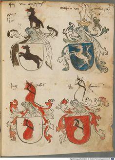 Tirol, Anton: Wappenbuch Süddeutschland, Ende 15. Jh. - 1540 Cod.icon. 310  Folio 72r