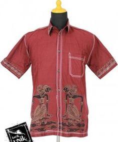 Baju Batik Kemeja Katun Motif Wayang