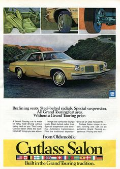1974 chrysler plymouth small fury advertising road track for 1974 oldsmobile cutlass salon