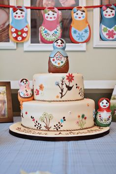 Russian doll cake