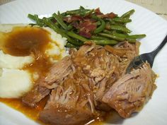 I found this on another website, but it is the way I have always made my pork tenderloin. So easy and so good. The gravy is amazing over mashed potatoes. You will love the ease of this perfect pork!