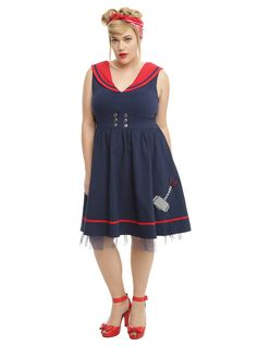 ecb33b49b70bf Marvel By Her Universe Thor Sailor Dress Plus Size