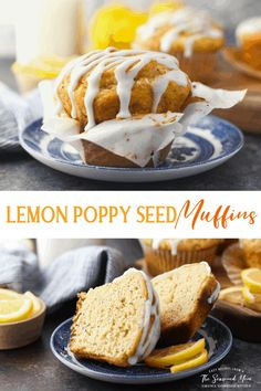 Light, fluffy, and bursting with fresh citrus flavor, these easy Lemon Poppy Seed Muffins are the perfect way to start your day! Make them ahead for quick grab-and-go breakfasts or snacks throughout the week, add them to a special holiday buffet, or enjoy them with brunch on a lazy Sunday morning. Best of all, you can stir together the moist lemon poppy seed muffins from scratch in just 15 minutes! Muffin Recipes, My Recipes, Snack Recipes, Snacks, Dessert Cake Recipes, No Cook Desserts, Lazy Sunday, Sunday Morning, Poppy Seed Muffin Recipe