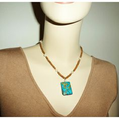 Every Morning Design Bold Turquoise Rectangle Necklace | Overstock.com Shopping - The Best Prices on Necklaces