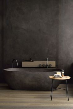 If you have a small bathroom in your home, don't be confuse to change to make it look larger. Not only small bathroom, but also the largest bathrooms have their problems and design flaws. Luxury Bathtub, Bathroom Design Luxury, Luxury Bathrooms, Dark Bathrooms, Dream Bathrooms, Modern Bathrooms, Bath Design, Beautiful Bathrooms, Modern Bathtub