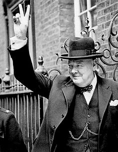 "20 Jul 41: In a broadcast to the people of occupied Europe, Winston Churchill inaugurates the ""V for Victory"" campaign, which will include the hand sign, the written letter and even the rhythmic ""dit-dit-dah"" of morse code, ironically a perfect fit to the opening bars of German composer Beethoven's Fifth Symphony. More: http://scanningwwii.com/a?d=0720&s=410720 #WWII"