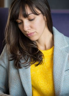 Yellow pullover by Mads Norgaard via Street-files, wool coat by Circolo 1901 via Stereo Fashion