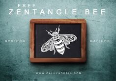 Zentangle Bee Free SVG, PNG, DXF, EPS Download