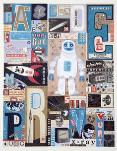 Atomic Alphabet by Linzie Hunter, via Behance