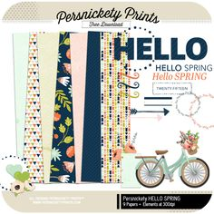 Quality DigiScrap Freebies: Hello Spring mini kit freebie from Persnickety Prints