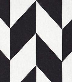 45'' Home Essentials Fabric-  Black & White Chevron