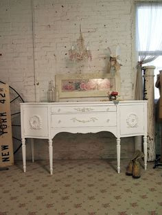 Shabby Chic White Buffet
