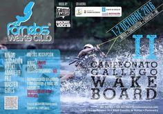 El fin de semana del 1 y 2 de Octubre, vamos a disfrutar de una jornada espectacular, con el campeonato gallego de wakeboard en nuestras instalaciones.  Pásate el fin de semana y disfruta del evento + consumición + camiseta por solo 8 euros.