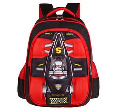 bc294fdffa Find More School Bags Information about Top Brand Orthopedic Ergonomic 3D  Racing Car Styling Primary Elementary