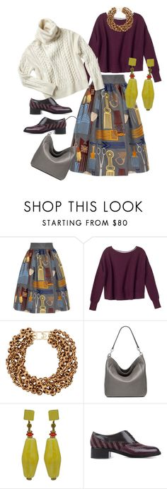 """""""Untitled #401"""" by clothes-wise ❤ liked on Polyvore featuring Stella Jean, Nili Lotan, Kenneth Jay Lane, MICHAEL Michael Kors, Miriam Haskell, Fratelli Rossetti, women's clothing, women's fashion, women and female"""