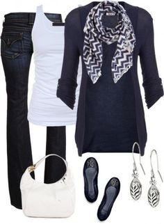 Dark blue outfit - Fashion and Love