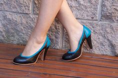 High heel leather handmade shoes / women shoes in black leather / Model Roxie by LaMoraZapatos on Etsy https://www.etsy.com/listing/190769549/high-heel-leather-handmade-shoes-women