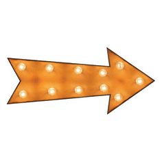 """Really Nice Things Lampe décorative Flèche avec ampoules - orange - 60 x 26 x 14 cm (longueur x largeur x hauteur) 125 € au lieu de 249 € Réalisée de façon artisanale Finition oxydée Idéal en appui sur le sol Un """"must have"""" pour les amateurs de décoration vintage  Ampoules E14, 25W incluses. Poids: 5 Kg Composition Bois"""