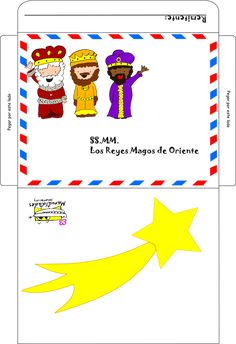 sobre y carta reyes magos para imprimir:  http://www.manualidadesinfantiles.org/carta-de-los-reyes-magos-para-imprimir