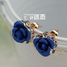 Earrings female Korean cute fashion earrings 18k gold jewelry