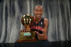 HOUSTON, TX - FEBRUARY 16: Terrence Ross of the Toronto Raptors poses for portraits with the 2013 Sprite Slam Dunk Trophy during State Farm All-Star Saturday Night as part of 2013 NBA All-Star Weekends at Toyota Center on February 16, 2013 in Houston, Texas.