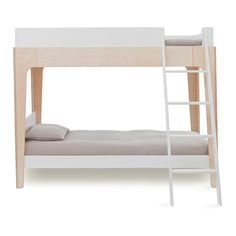 Oeuf Perch Bunkbed The elegant and eco-friendly Perch bunk bed is the perfect centerpiece for any child's room. It's compact footprint leaves plenty of room for play and additional furniture or storage. The versatile Perch easily separates into a loft bed White Bunk Beds, Modern Bunk Beds, Bunk Beds With Stairs, Twin Bunk Beds, Kids Bunk Beds, Kids Furniture, Bedroom Furniture, Single Bunk Bed, Bunk Bed Designs