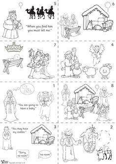 Teacher's Pet - Nativity story sequencing (black & white) - FREE Classroom Display Resource - EYFS, KS1, KS2, christmas, nativity, story, an...