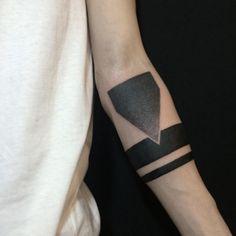 Geometric, arm tattoo on TattooChief.com