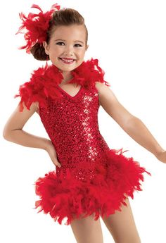 Sequin Feather Boa Dress -Weissman Costumes