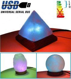 RGB LED-es, színváltós sólámpa USB csatlakozóval. A mellett, hogy nagyon hangulatos és eredeti, rendkívül egészséges is a használata, ugyanis hatékony...