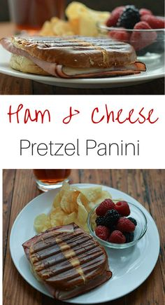 This Ham and Cheese Panini on a pretzel bun is such a great twist on a plain sandwich night. I love using pretzel buns for sandwich recipes and this hot ham and cheese panini is no exception.