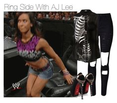 Ring Side With AJ Lee by amysykes-697 on Polyvore featuring WithChic