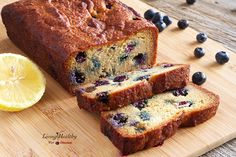 Paleo Blueberry Bread With Lemon Glaze (gluten, dairy, refined sugar free) by LivingHealthyWithChocolate.com