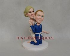 custom wedding cake topper wrestling cake toppers by dealeasynet, $120.00