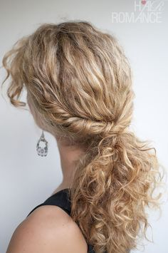 Curly twist over ponytail