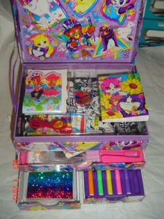 Vintage Lisa Frank Stationary Box Bulk Lot Address Book Stickers Nails Colors | eBay