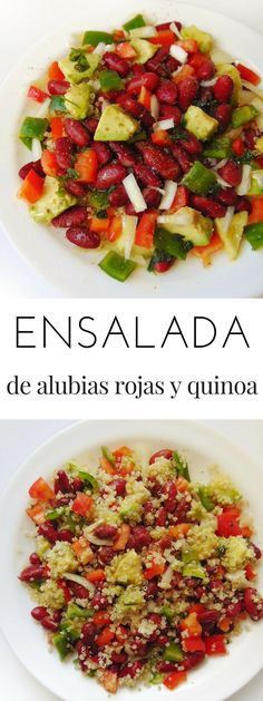 Ensalada fría de alubias rojas y quinoa | Tasty details