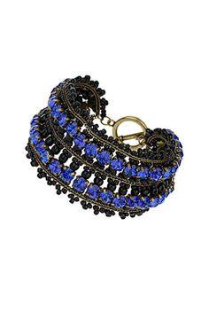 Premium Blue Rhinestone Bracelet