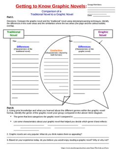 This is the graphic novel comparison activity to be used with the Getting to Know Graphic Novels PowerPoint lesson available for purchase in my store.