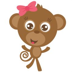 Girl Monkey SVG cut file for scrapbooking free svgs free svg cuts monkey svg file cute svgs
