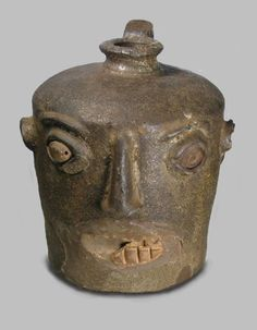 slave made face jug .... south carolina