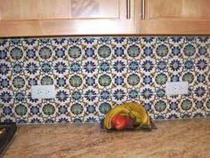 Backsplash tile, decorative tile, kitchen tile - hand painted tiles, gauge for other continuous tiles $ ?