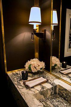 Agatha O I Lichten Craig 2017 Kips Bay powder room Powder Room Decor, Powder Room Design, Powder Rooms, Bathroom Design Luxury, Modern Bathroom, Minimalist Bathroom, Sol Sombre, Restaurant Bathroom, Dream Bathrooms