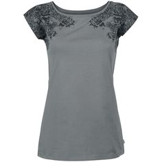 Black Premium by EMP  T-Shirt  »Skull & Roses«   Buy now at EMP   More Basics  T-shirts  available online ✓ Unbeatable prices!