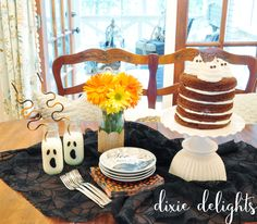 Dixie Delights: Halloween Treats; Decorations, Home Tour, Kitchen, 5 layer cake