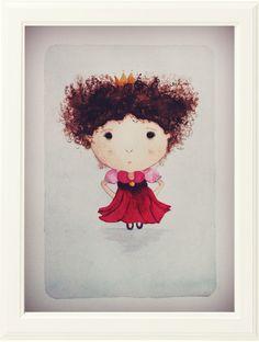 """Lolita, la princesita""  Acuarela sobre cartulina.  21 x 30"
