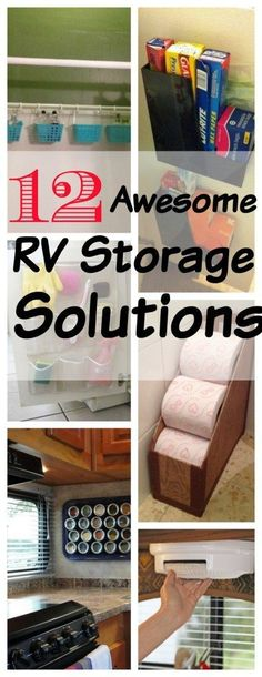 12 Awesome RV and travel trailer storage and organization solutions
