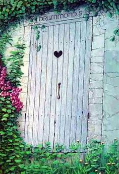 "Detail of the ""Secret Garden Door"" by artist Darcy Gerdes"
