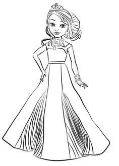 Evie Descendants 2 Coloring Page | Free Movie Coloring ...