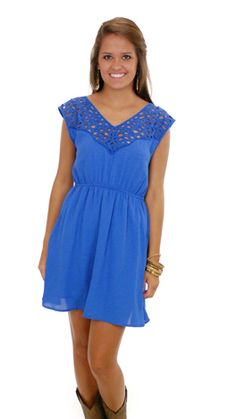Cut That Out Dress, Blue